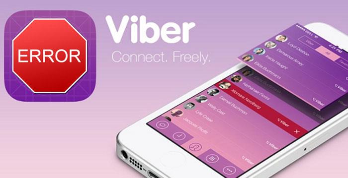 Ошибка при подключении к службе Viber
